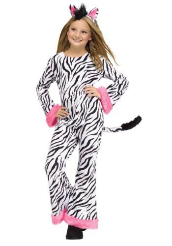 Disfraz de diva cebra para niñas