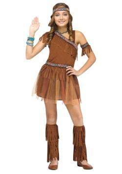 Las niñas dan gracias traje indio
