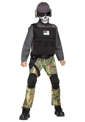 Disfraz de soldado esqueleto para niño