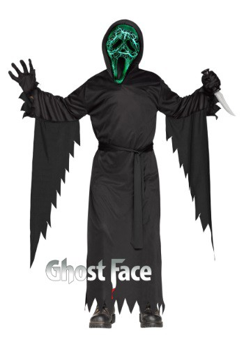 Disfraz infantil de cara de fantasma humeante