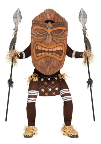 Disfraz de guerrero Tiki para adulto