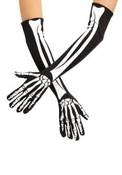 Guantes de esqueleto de la ópera para adulto