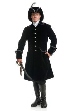 Chaqueta negra de pirata con bolsillos, de lujo