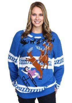 Suéter navideño feo La abuela fue atropellada por un reno