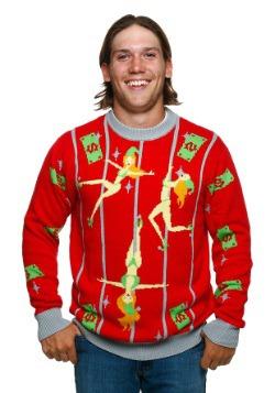 Suéter de Navidad feo de elfos bailarines