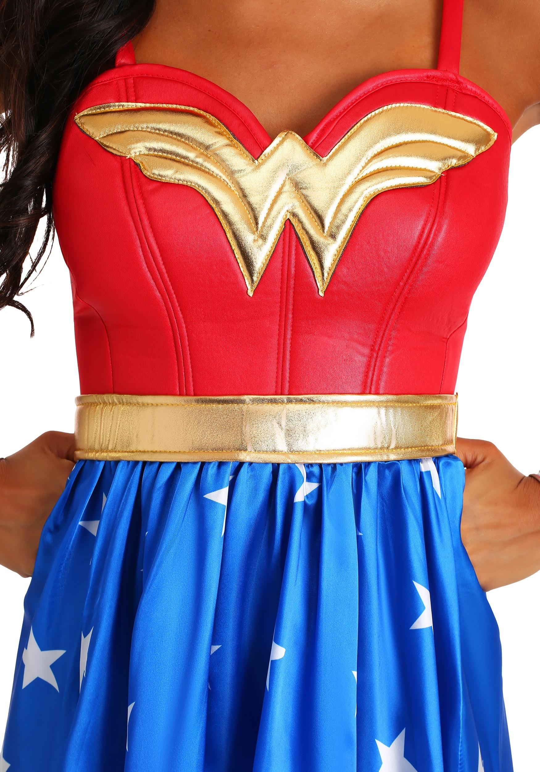 Disfraz Vestido De Mujer Maravilla Deluxe Para Adulto