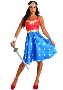 Disfraz vestido largo de Mujer Maravilla talla extra deluxe-