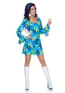 Disfraz de vestido retro de la flor silvestre de talla extra