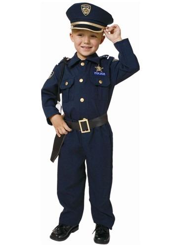Disfraz de oficial de policía deluxe para niños pequeños
