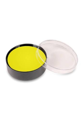 Maquillaje en taza de color amarillo
