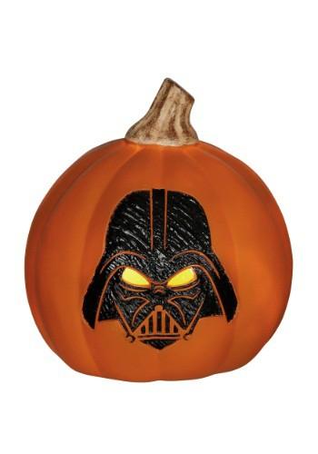 Calabaza naranja con luz Darth Vader de Star Wars