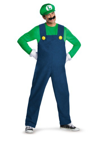 Disfraz de Luigi deluxe para hombre