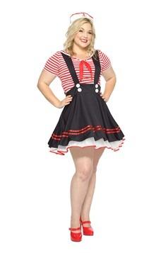 Disfraz para mujer para niña de talla Plus Retro Sailor