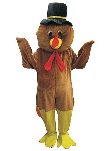 Disfraz de mascota pavo de Día de Acción de Gracias