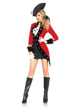 Disfraz para mujer en abrigo rojo rebelde