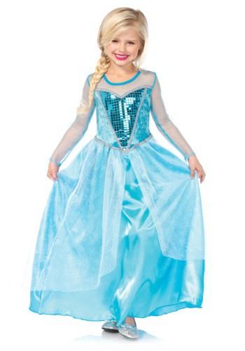Disfraz infantil de Reina de la Nieve de fantasía