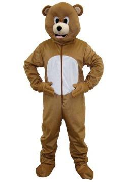 Disfraz de oso mascota café