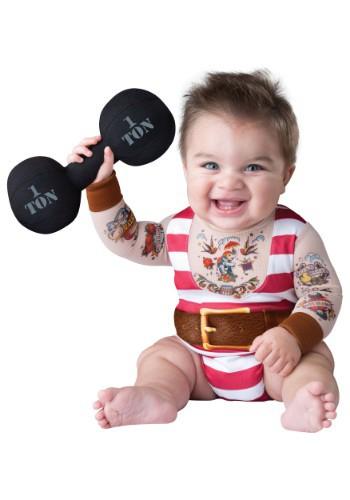 Disfraz de forzudo bobo para bebé/niño pequeño