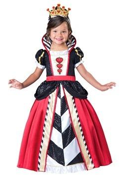 Disfraz de Reina de Corazones para niñas pequeñas