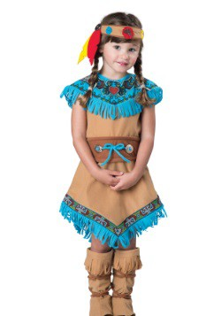 Disfraz de indio para niñas pequeñas