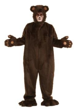 Disfraz de oso peludo café deluxe para adulto