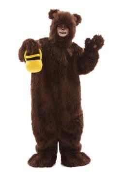Disfraz infantil de oso café peludo deluxe