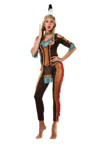 Disfraz de nativo americano tribal de mujer