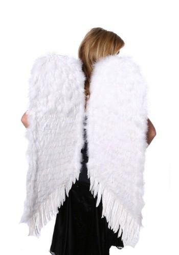 Alas de ángel grandes de plumas blancas