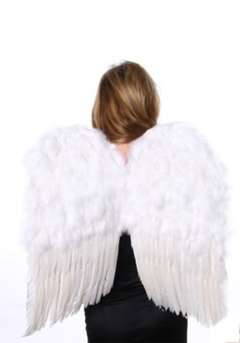 Alas medianas de ángel de plumas de color blanco