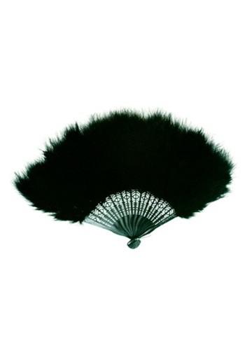 Abanico de plumas marabou negro