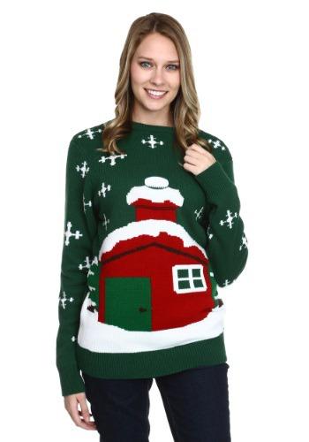 Suéter de Navidad atascado de Santa