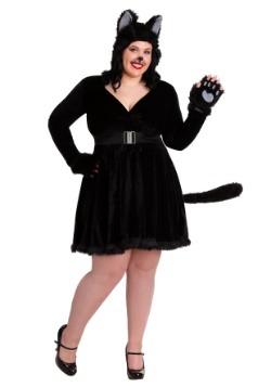 Disfraz de gato negro de talla grande para mujer