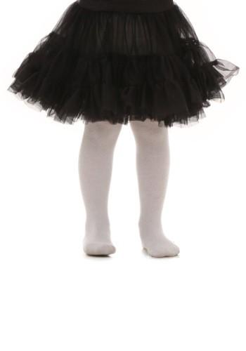 Crinolina a la rodilla negra para niños pequeños