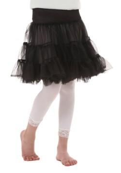 Crinolina infantil negra a la rodilla