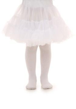 Crinolina infantil blanca a la rodilla para niños pequeños