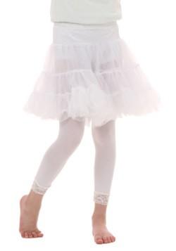 Crinolina infantil blanca hasta la rodilla