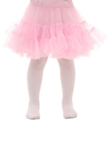 Crinolina a la rodilla color rosa para niños pequeños