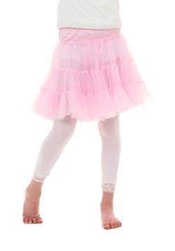 Crinolina hasta la rodilla color rosa pastel