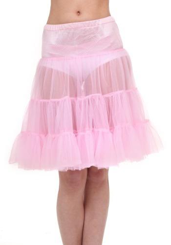 Crinolina a la rodilla color rosa talla extra