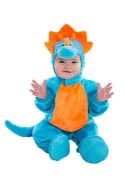 Disfraz de Dino con naranja y azul para bebé
