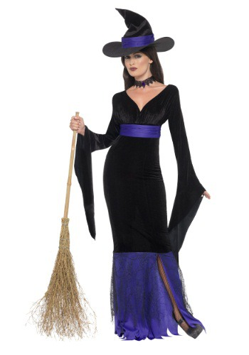 Disfraz de bruja glamorosa para mujer