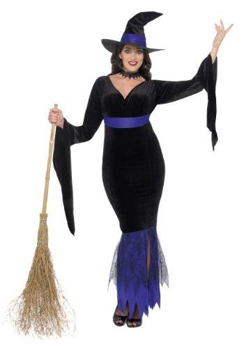 Disfraz para mujer de bruja glamorosa talla extra