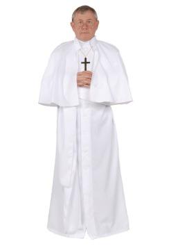 Disfraz de Papa talla extra para hombre