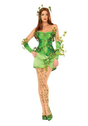 Disfraz deluxe de Hiedra Venenosa con corsé para mujer