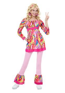 Disfraz estilo disco camiseta y pantalón acampanado adulto