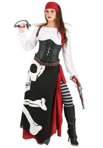 Disfraz de gitana de bandera pirata para mujer