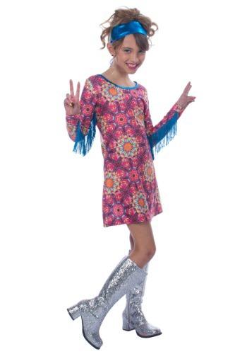 Disfraz de hippie soñador para niñas