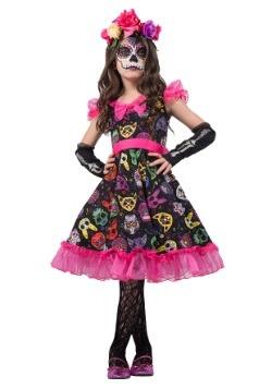 Disfraz de calavera de azúcar para niñas