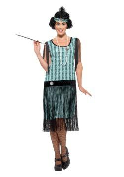 Disfraz Coco Flapper menta de los años 20 para mujer