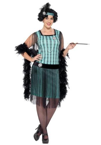 Disfraz Coco Flapper menta de los años 20 mujer talla extra